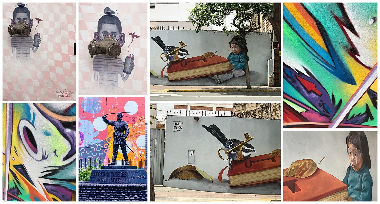 © 2018 SuZan Alexander.   Lima Street Art Collage  . Photography