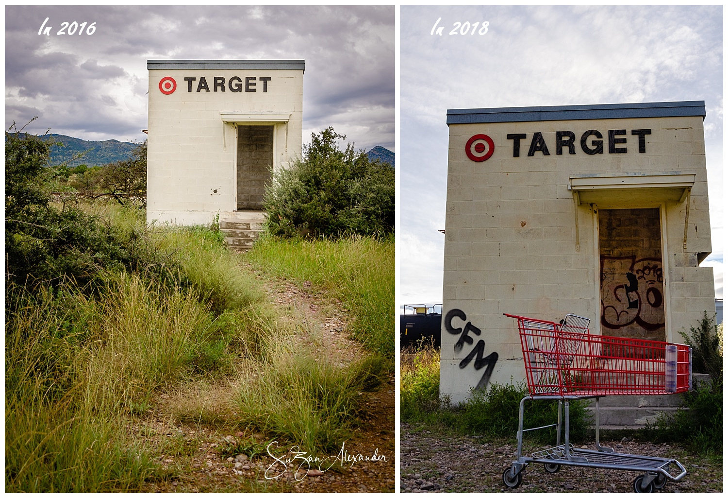 "© 2016 and 2018 SuZan Alexander. Big Bend Area ""Target"". Digital Photography"