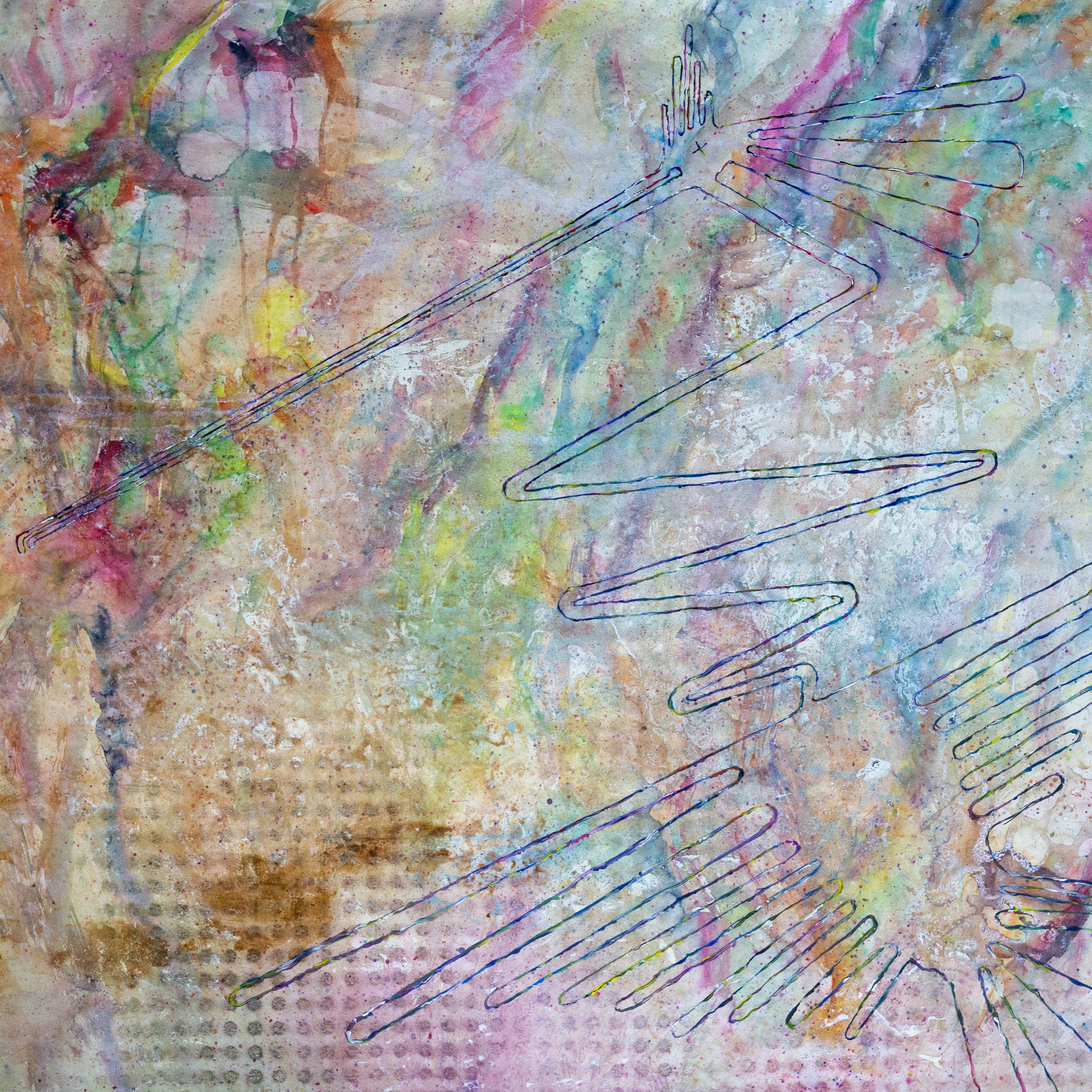 A Bird Got Killed Today | Painting on Paper | Lennart Schaffert