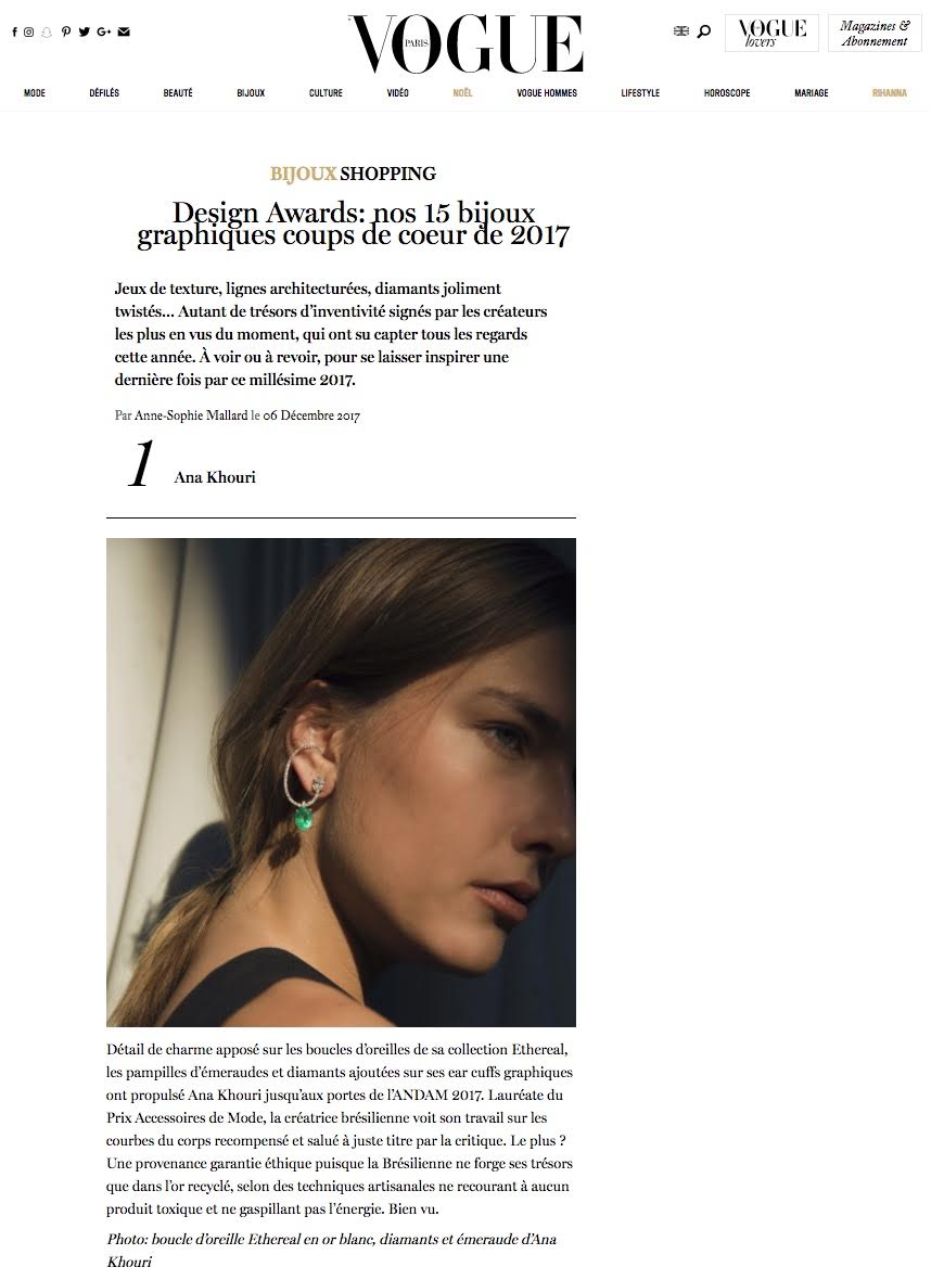 Vogue France Design Awards