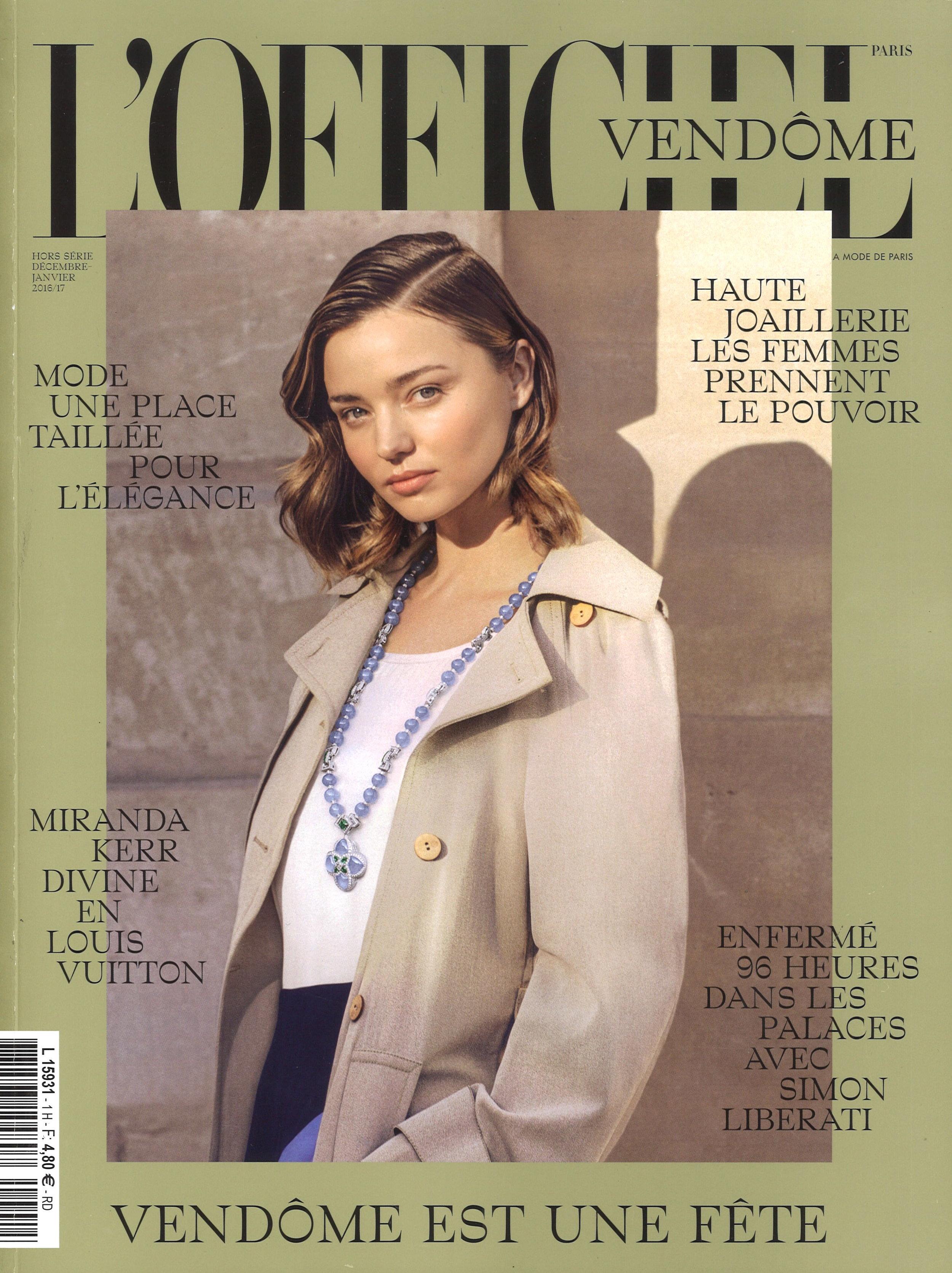 L'Officiel Vendôme Cover
