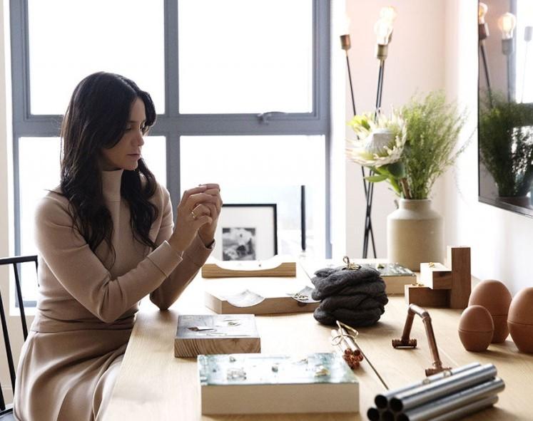 Ana Khouri in The Window   Barney's New York