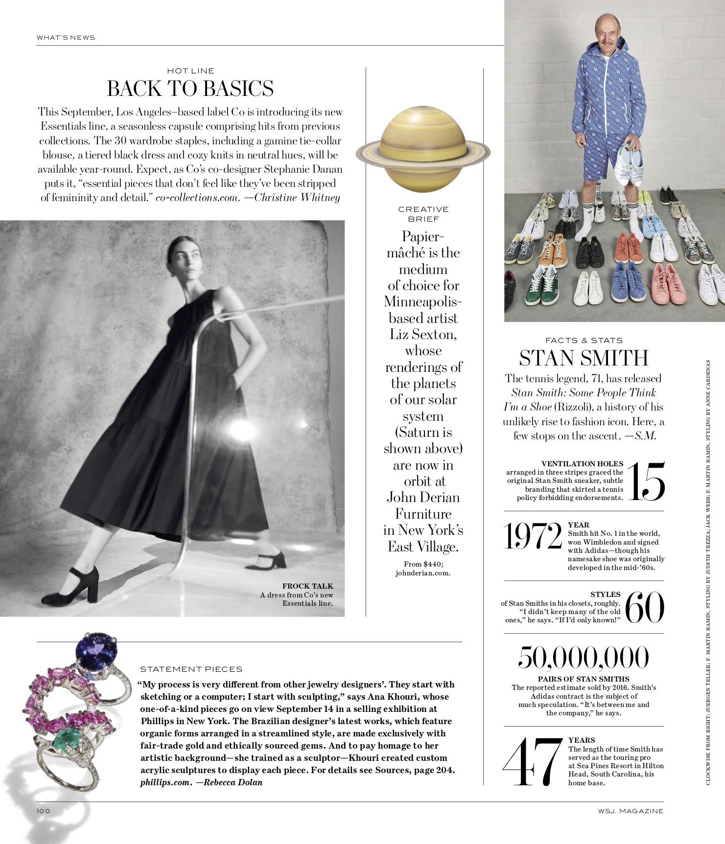 WSJ Magazine September 2018 Feature | Gioconda Tanzanite Ring, Pink Sapphire Mirian Ring, Emerald Marcia Ring.jpg
