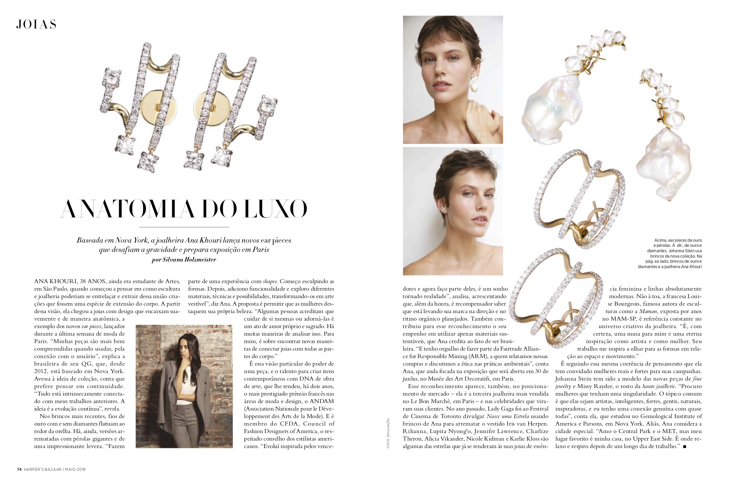 Harper's Bazaar Brazil May 2019 Hanging Diamond Penelope, Diamond Katherine, Laurence Earrings.jpg