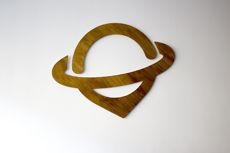 Logo cut from wood