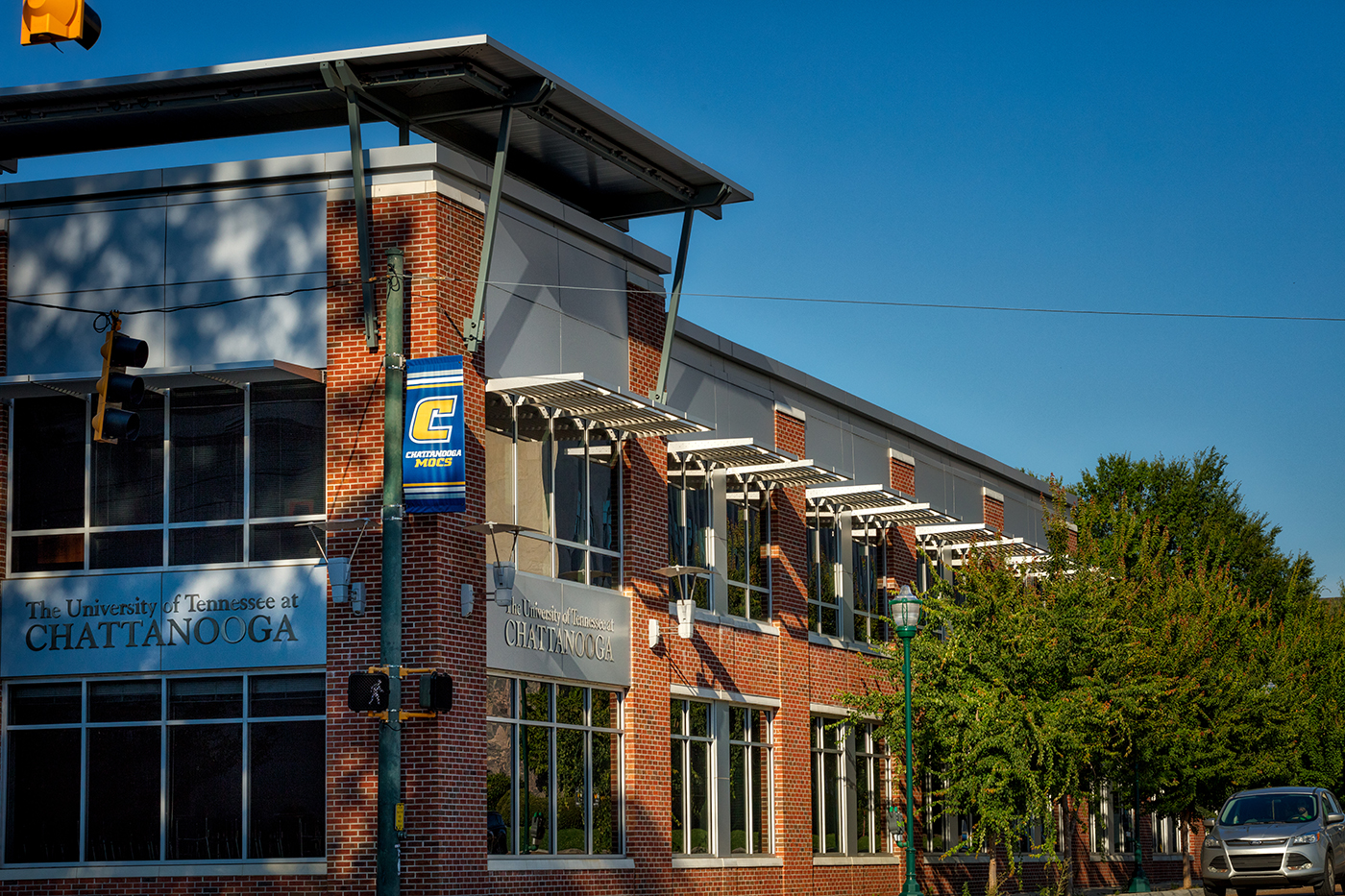 This shot was taken of the exterior remodel at the corner of McCallie Ave. and Houston Street.