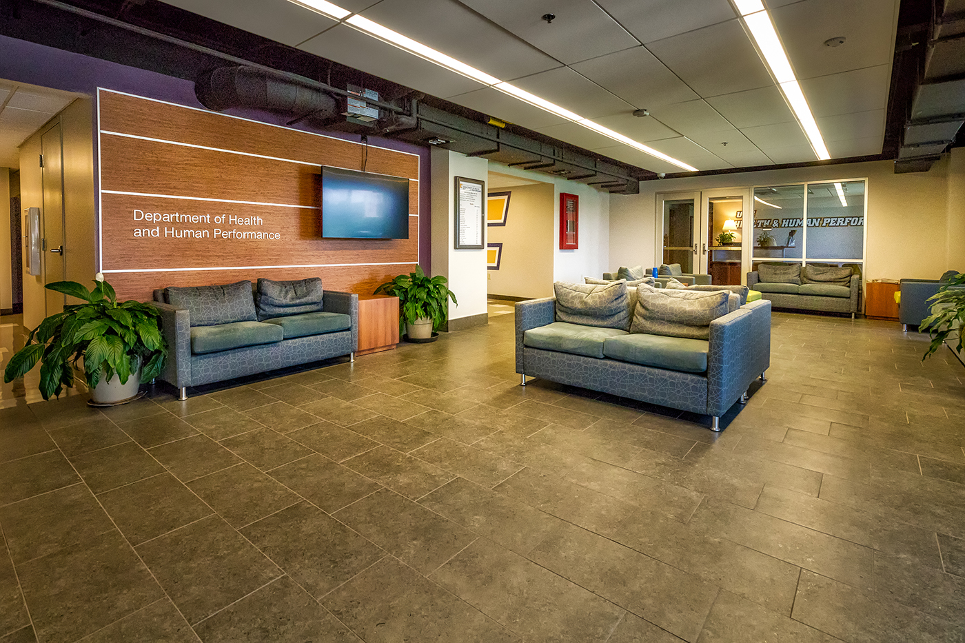 The redesigned interior of the Metropolitan Building offers offices, study spaces for students, and many classrooms and labs throughout the 3 story facility.