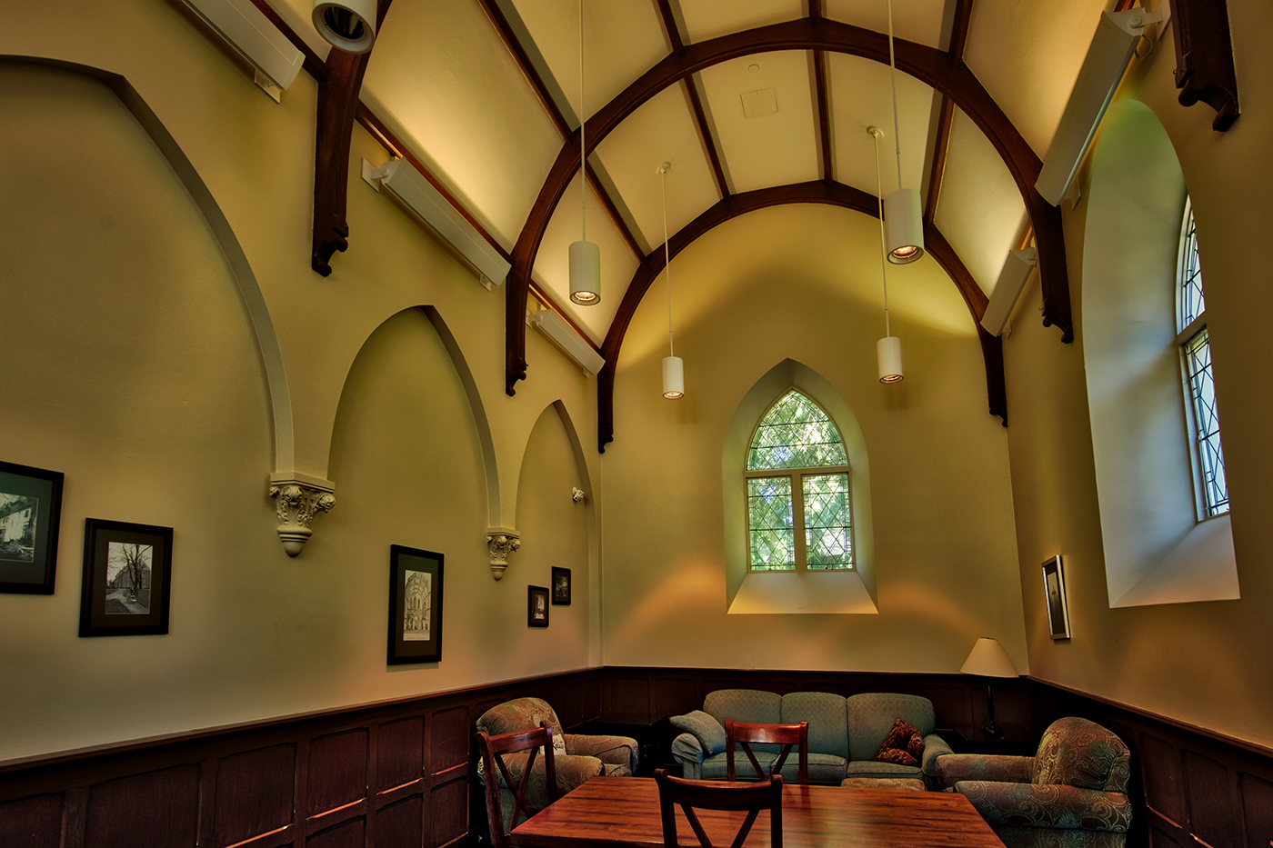 The Oratory, where students can study and relax in between classes or before they rest for the evening