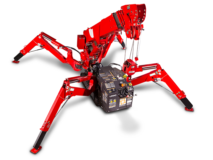 Spider Crane URW 295 Load Charts