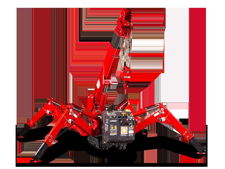 Spider Crane URW 706 Load Charts