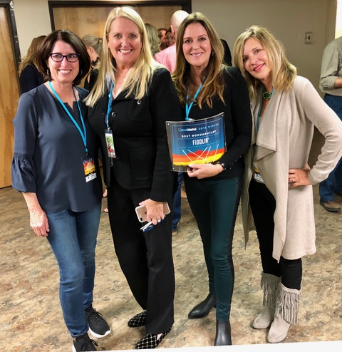 From left to right: Associate Producer joAnn Weisel, Producer Vicki Vlasic, Director Julie Simone and Associate Producer LYNN Levy a the Breckenridge Film Festival.