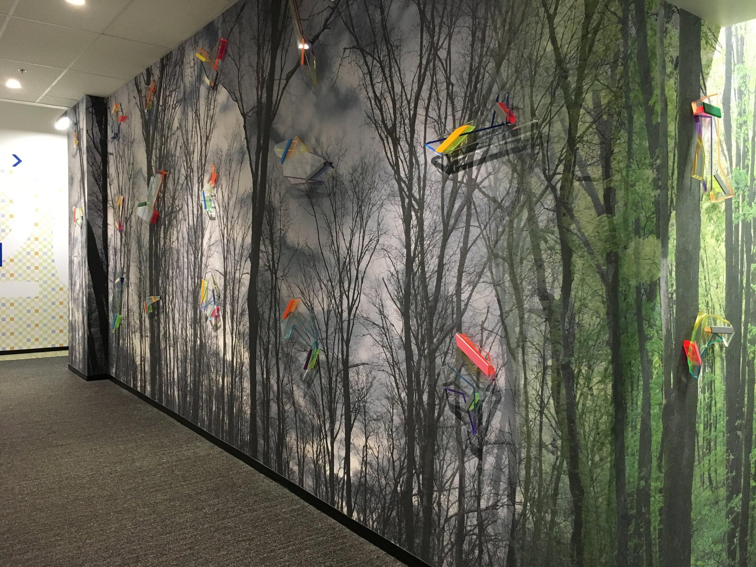 100 artworks, various sizes