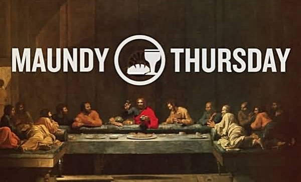 Maundy Thursday  Celebrate the Lord's Supper, remembering the meal Christ shared with his disciples before his death and remembering the new commandment that Christ gave us in word and deed as he taught us how to love one another.