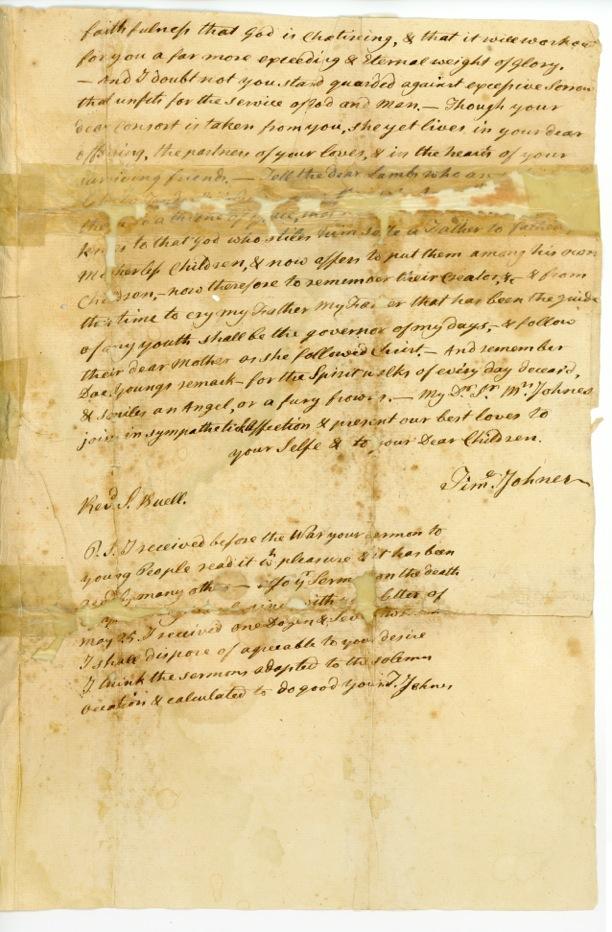 Rev. Samuel Buell Letter to Rev. Timothy Johnes, June 16, 1783, p.2