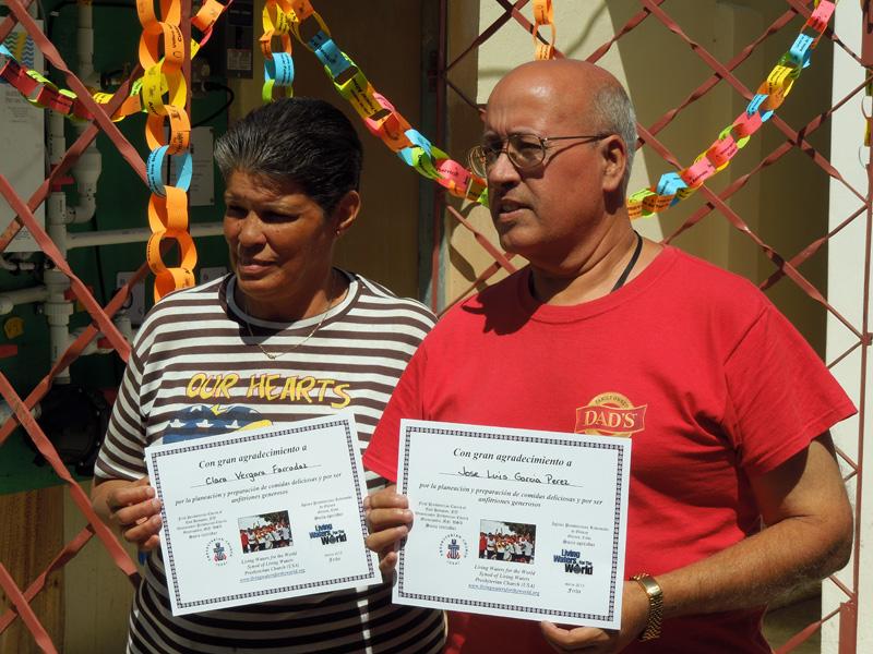 Cuba Mision - April 2013 Newsletter - Clara  Jose Luis with certificates.jpg