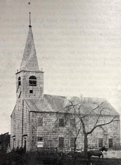 1717 Church, east side of Main Street, located near where the Guild Hall stands today, and entrance to Pondview Lane and nearly opposite Clinton Academy.