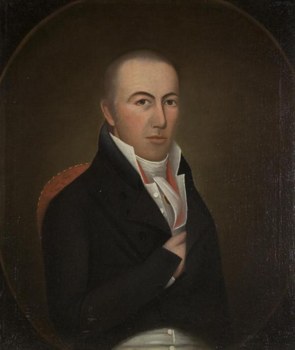 Rev. Elihu Ely (1777 - 1839) Father of Rev. Samuel Ely Portrait by Ralph Eleaser Whiteside Earl 1788 - 1838 ca. 1803 Oil on canvas Chrysler Museum of Art, Norfolk, VA