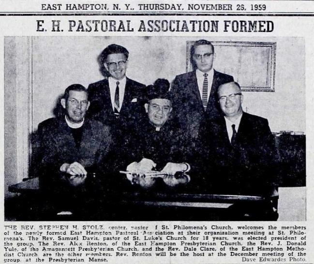E.H. Pastoral Association Formed - 1959