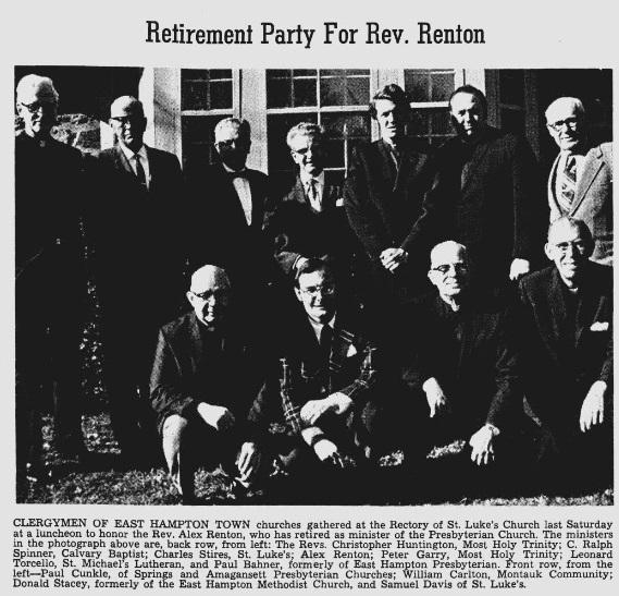 Retirement Party for Rev. Renton