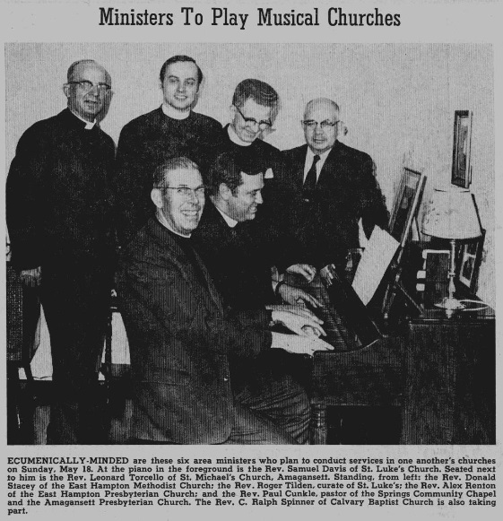 1969 - Ministers to Play Musical Churches