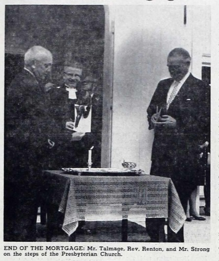Burning the Mortgage from the 1961 Church Renovation -1968