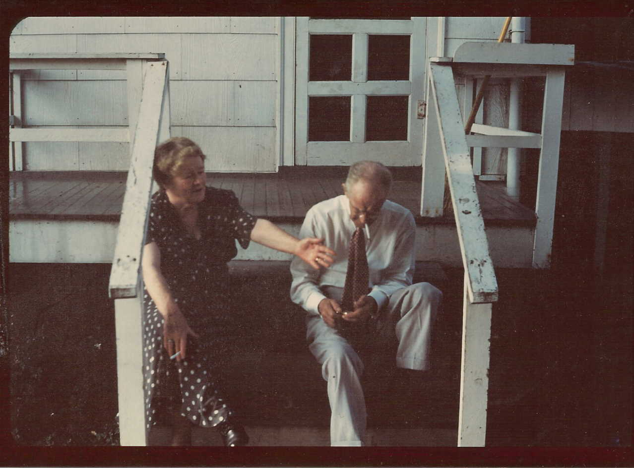 "Anna and Rev. Harkness ""On the Back Porch"", undated photo courtesy of"