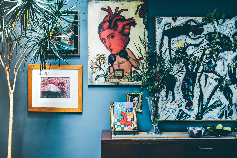 Copy of art on wall at Casa Jacaranda