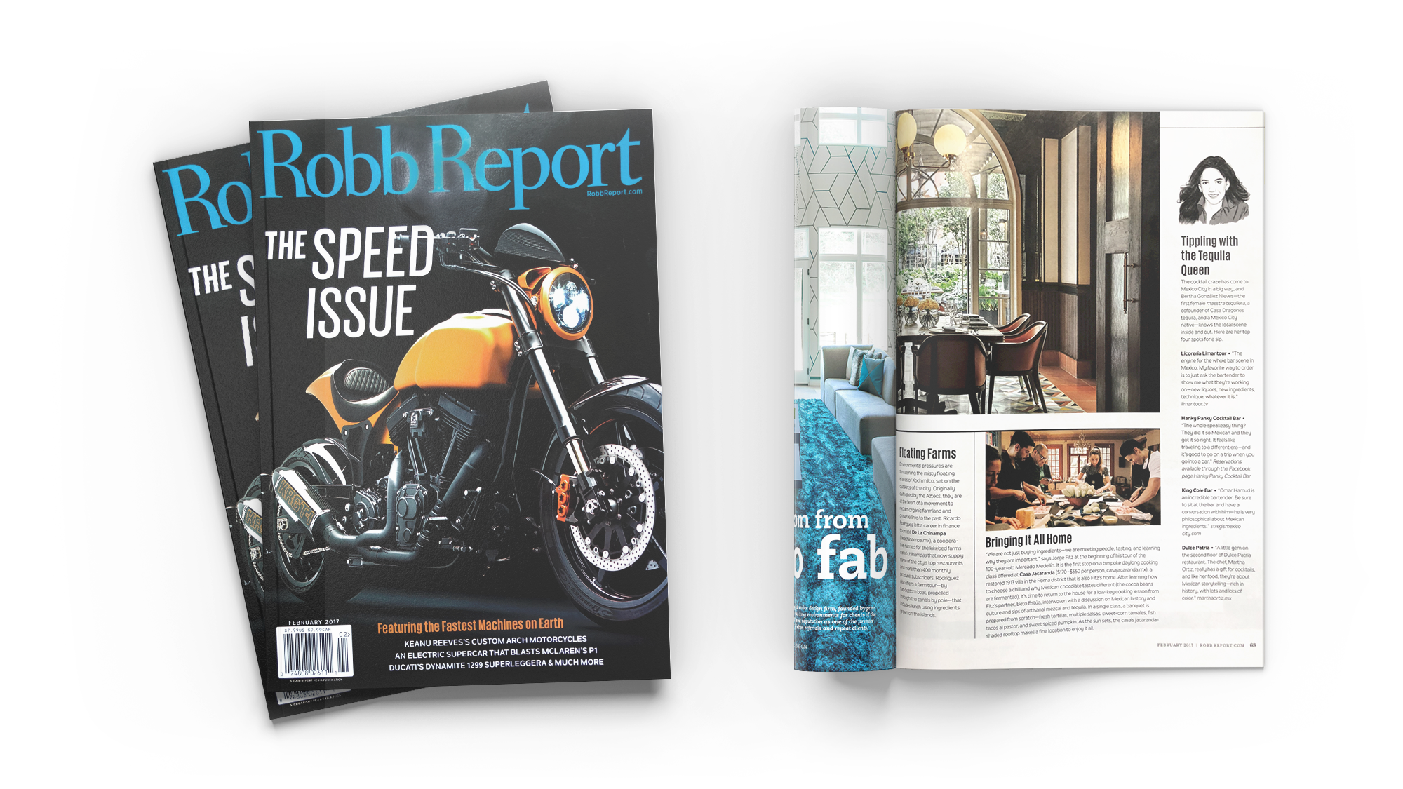 Feature on Casa Jacaranda in Robb Report magazine.