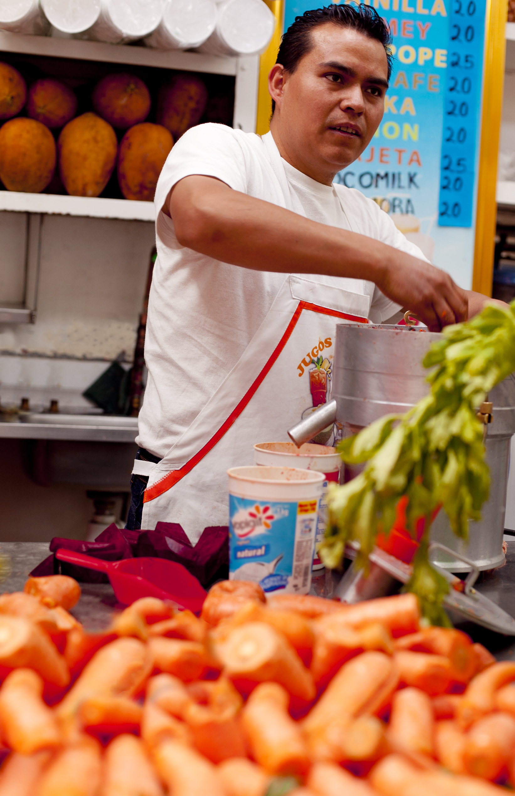 Copy of Market vendor with carrots in Mexico City