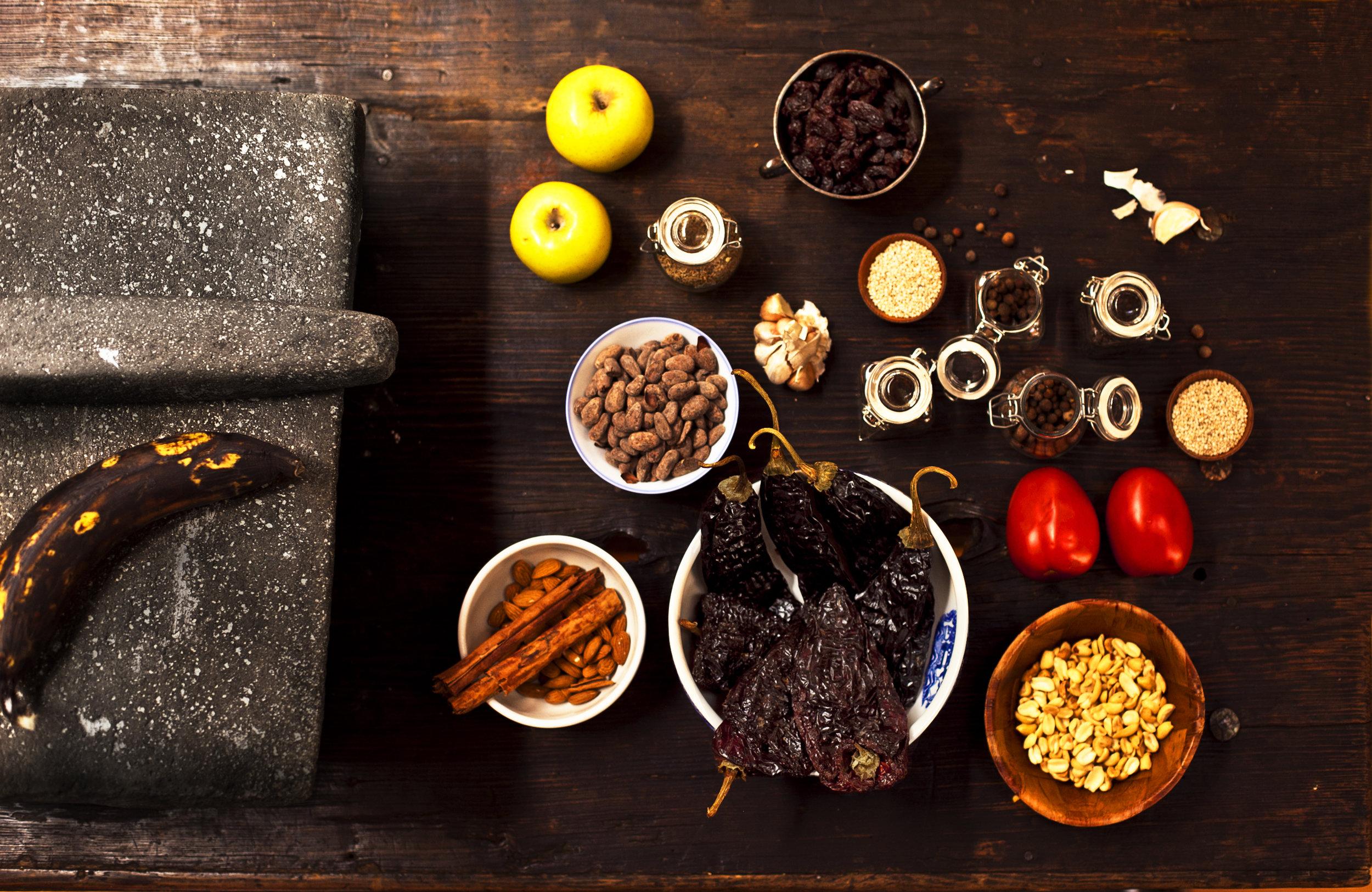 Ingredients for making salsa.