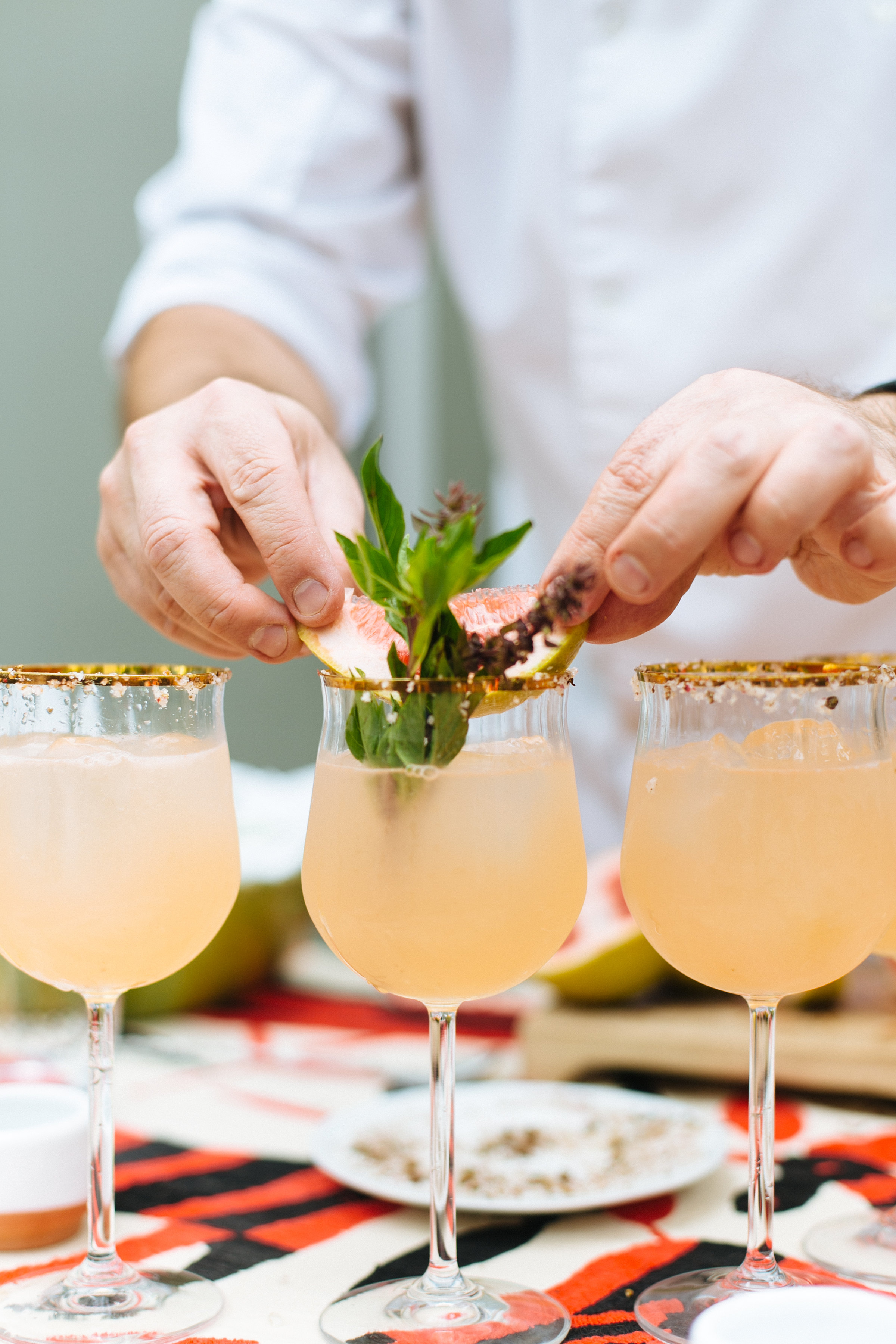 garnish on cocktails with Altos tequila