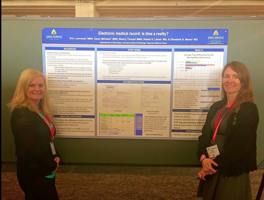 Dawn Merbach and Erin Lawrence presenting at the 2015 International Stroke Conference in Nashville.