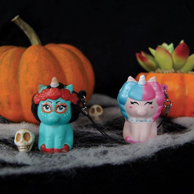 Trick or Treat your self with our @emzoskawaiisqueezies unicorns. Now available online, link to shop in bio ! 🎃💀✨#rainbowgosquad