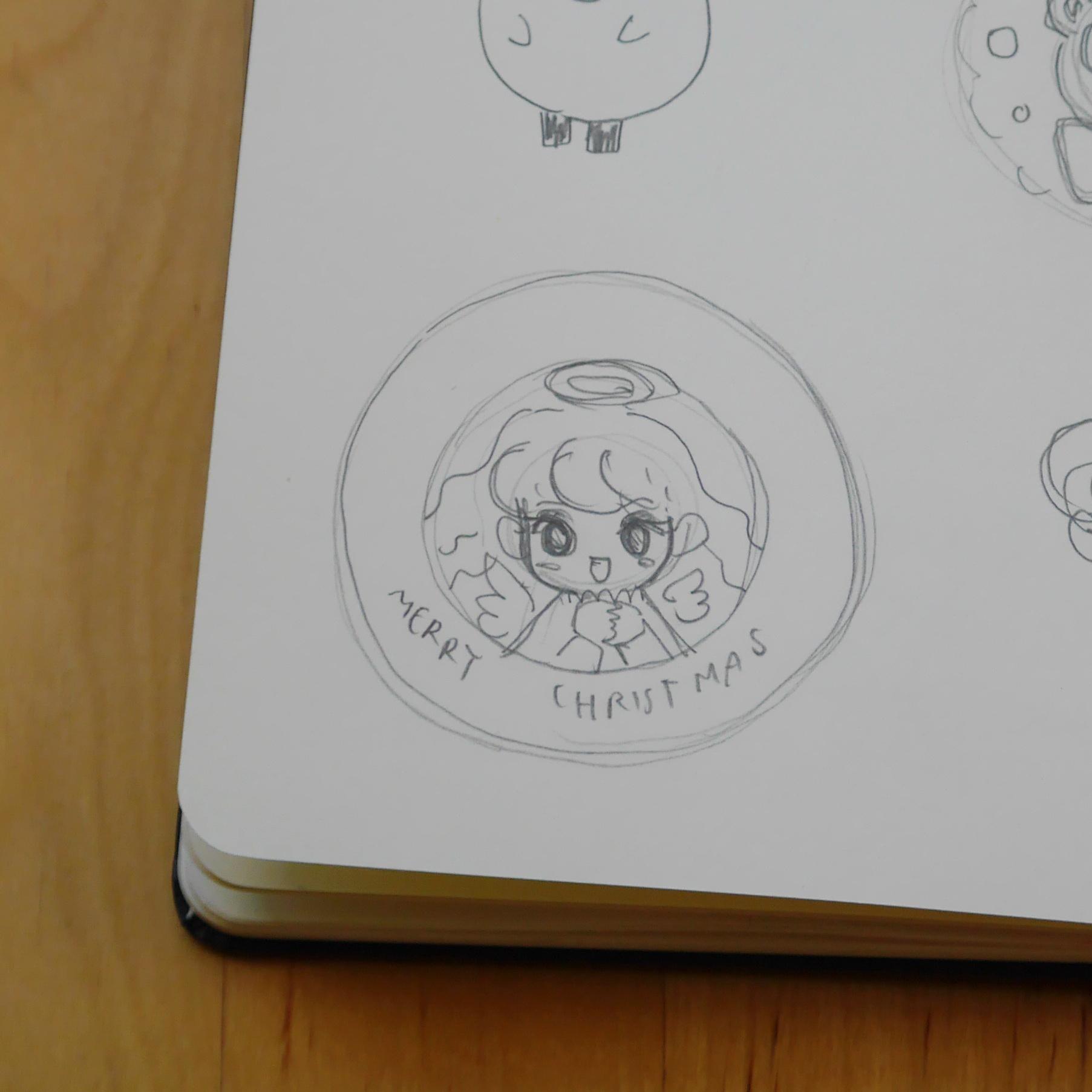 My original sketch on my sketchbook