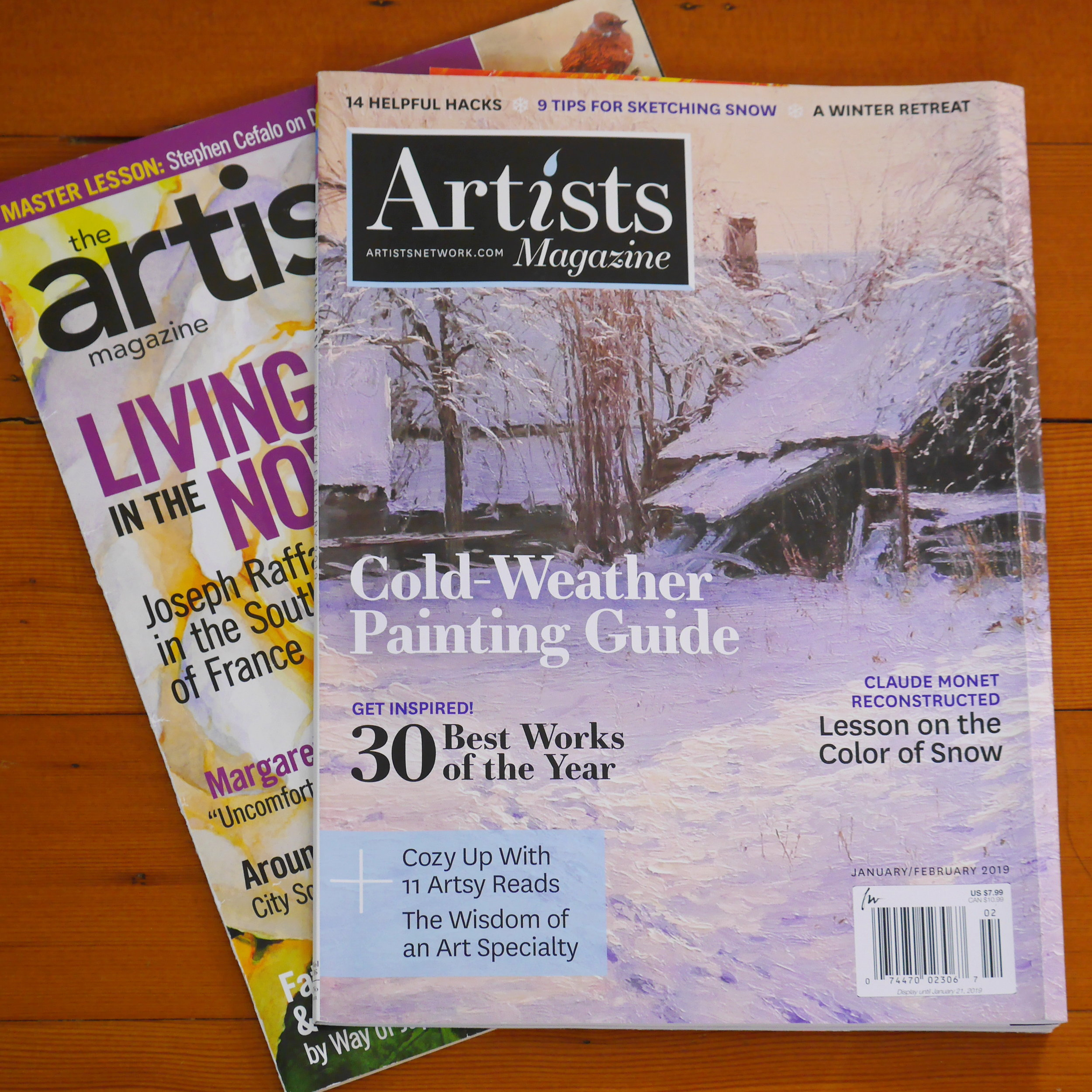 4. Artist's magazine  - US based magazine  - 6 issues per year  - Artist interview  - Art techniques  - website: http://subscriptions.theartistsmagazine.com/