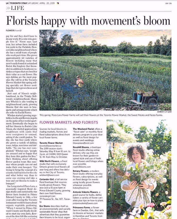 April 2019 : The Toronto Star // Debra Norton