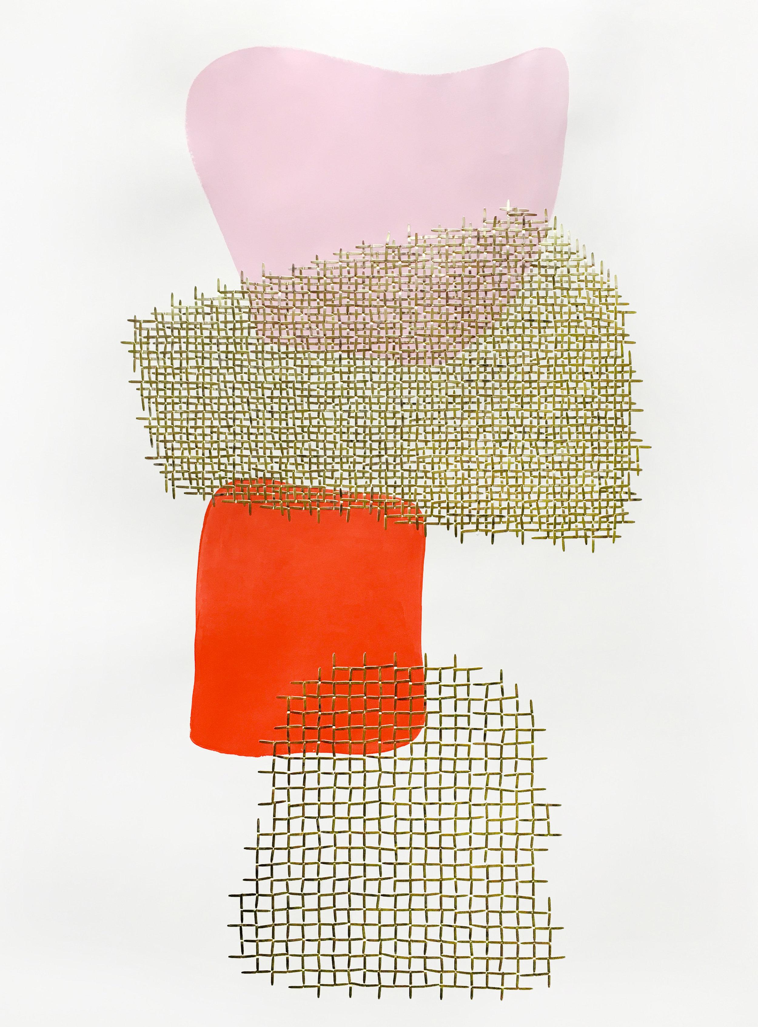 empathie III - Papier et laiton76 x 112 cm2019Pièce unique