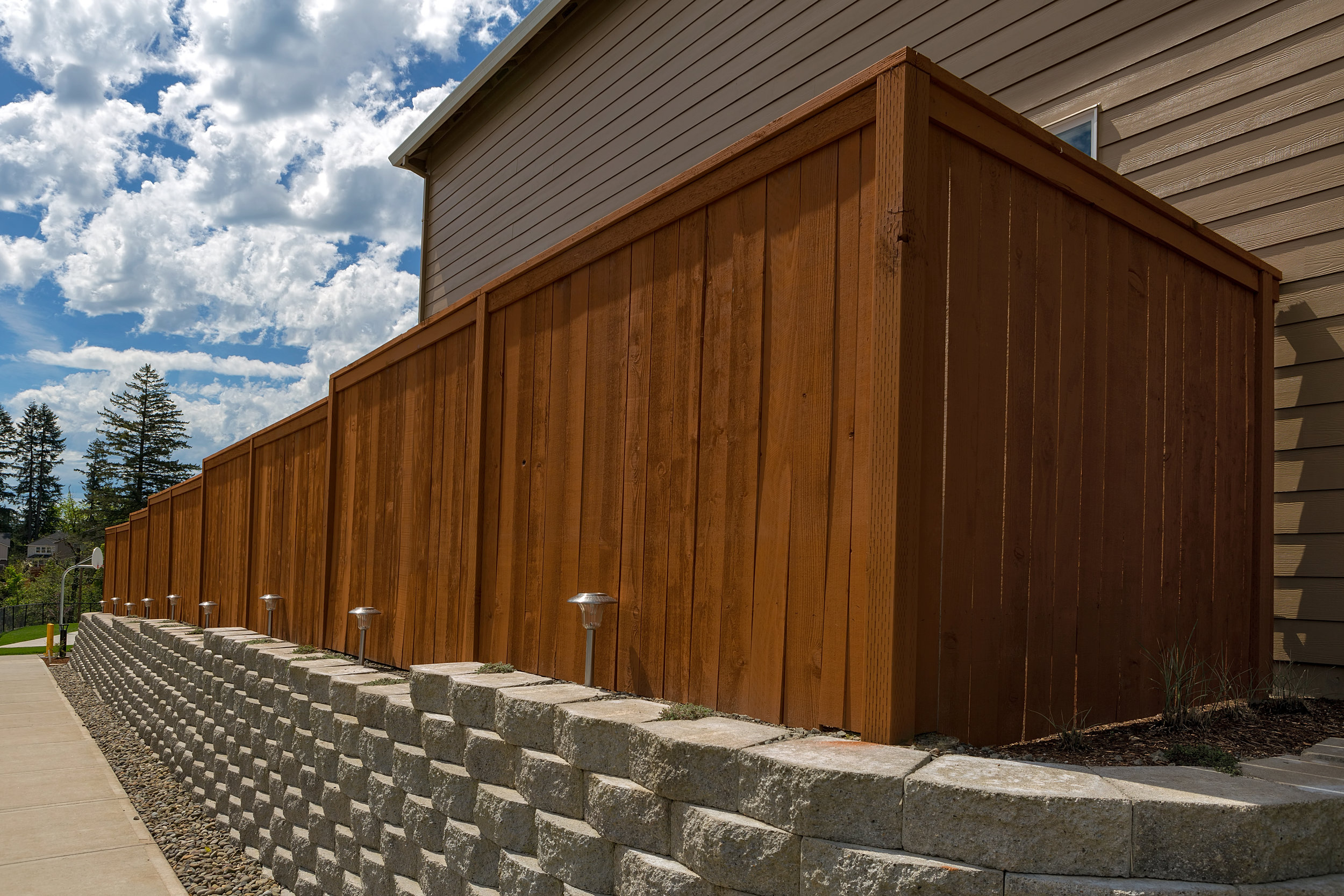 Cedar & Iron Fence - ………………………………