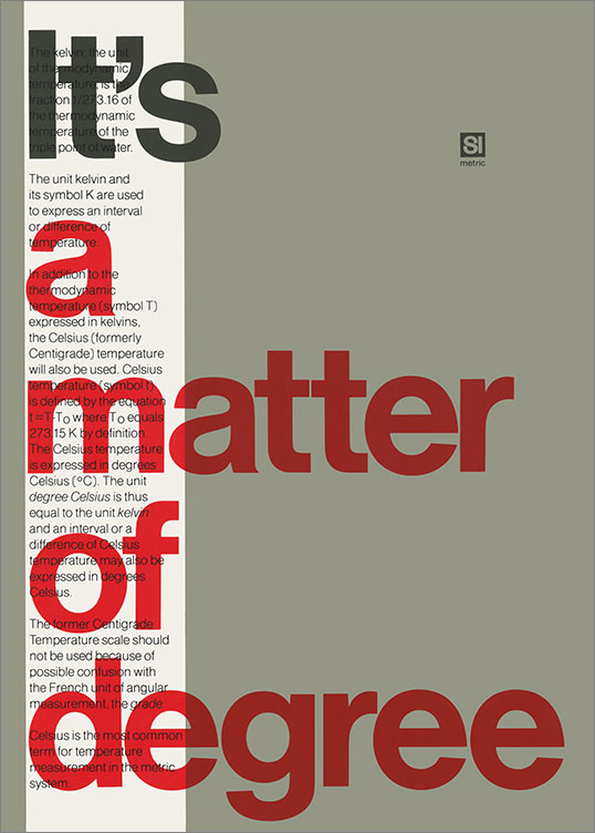 It's a Matter of Degree, 1969–79