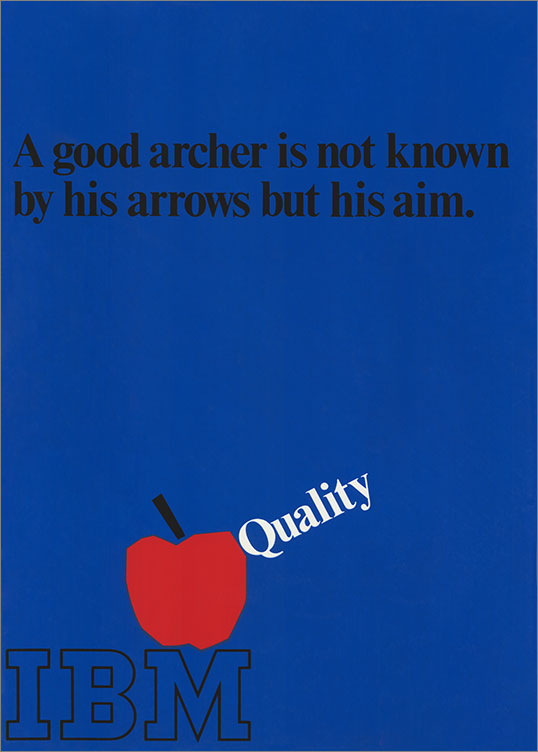 Quality | A Good Archer is Known, 1969–79