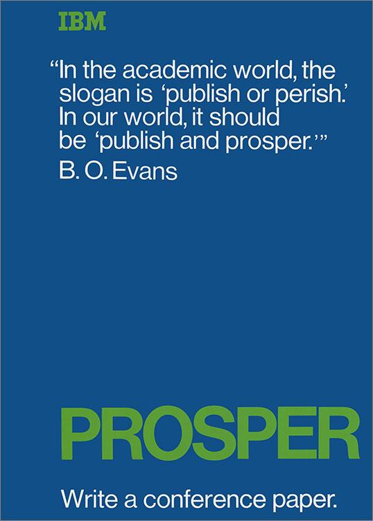 Prosper: Write a Conference Paper, 1969–79