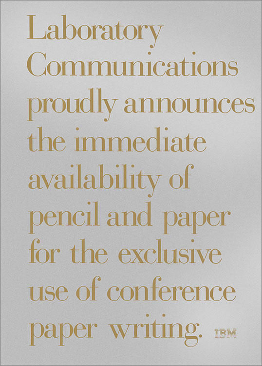Conference Paper Writing, 1969–79