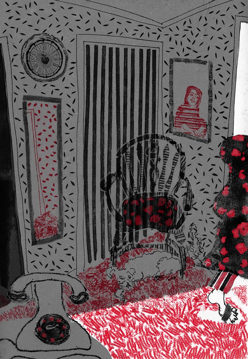 dealing with death editorial room design red carpet grandma.jpg