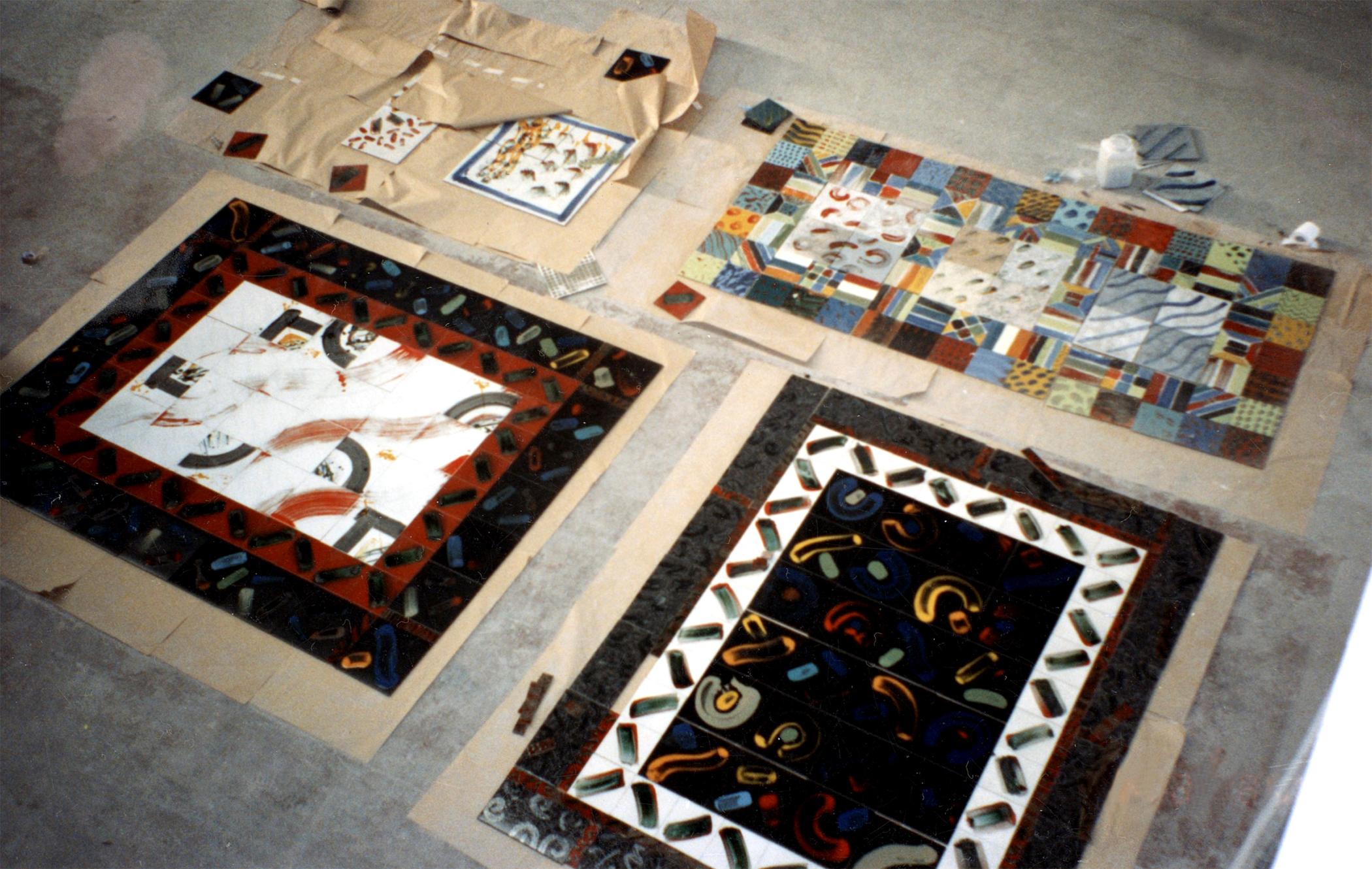 NEGEV CERAMICS Tile factory work in progress Yeruham, Israel