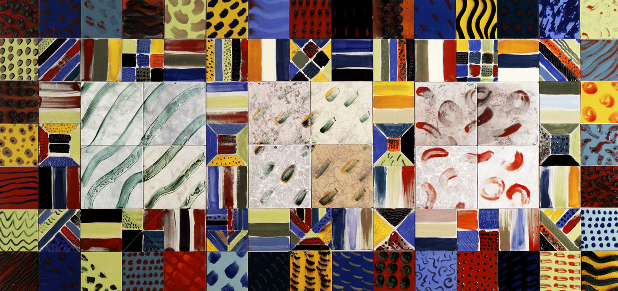 NEGEV SADOT 1993 City Hall/Municipal Building, Beer Sheva, Israel Glazed and ceramic tiles 56 x 120 inches