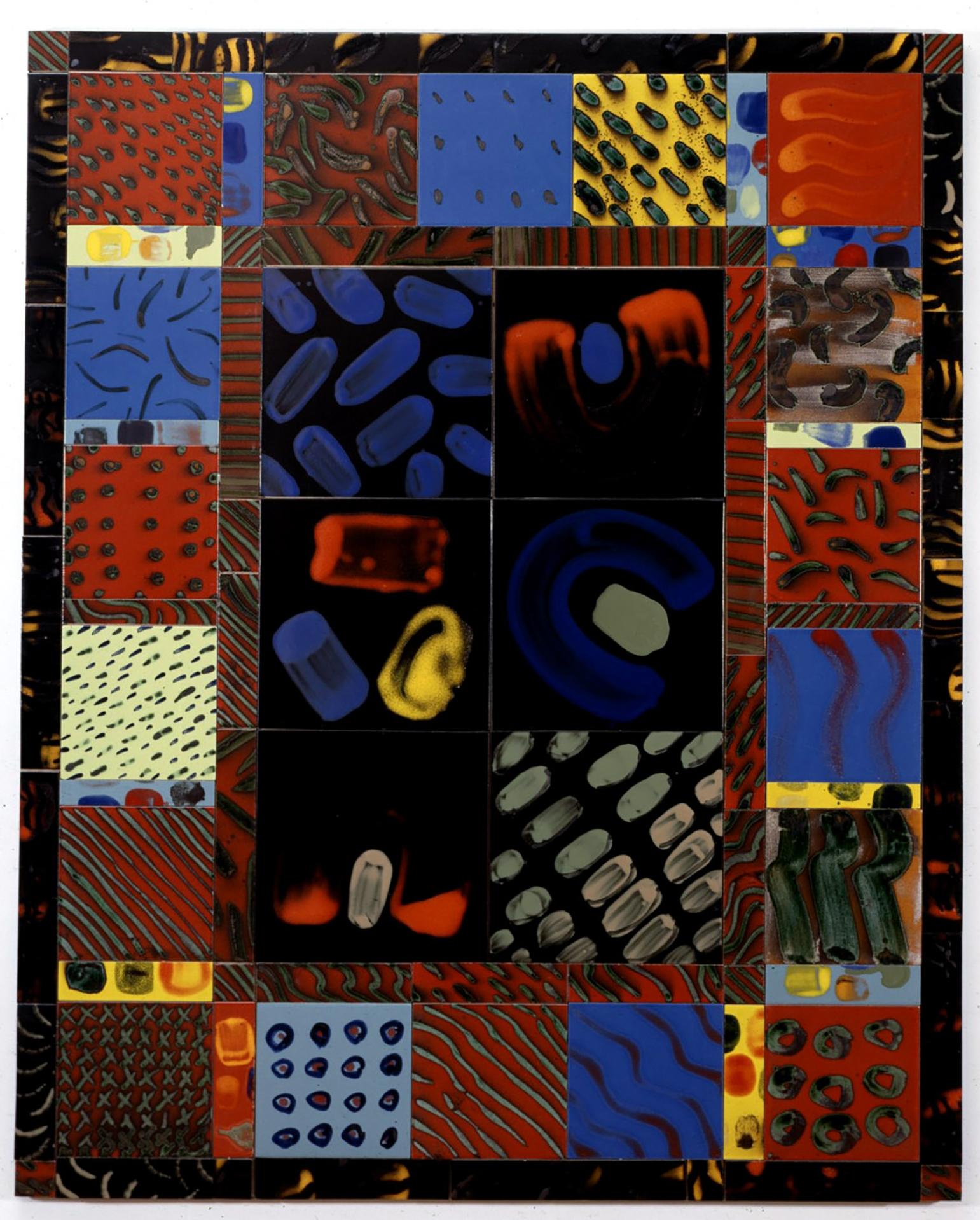 NEGEV IMPRINT 1995 Glazed and ceramic tiles 68 x 54 inches