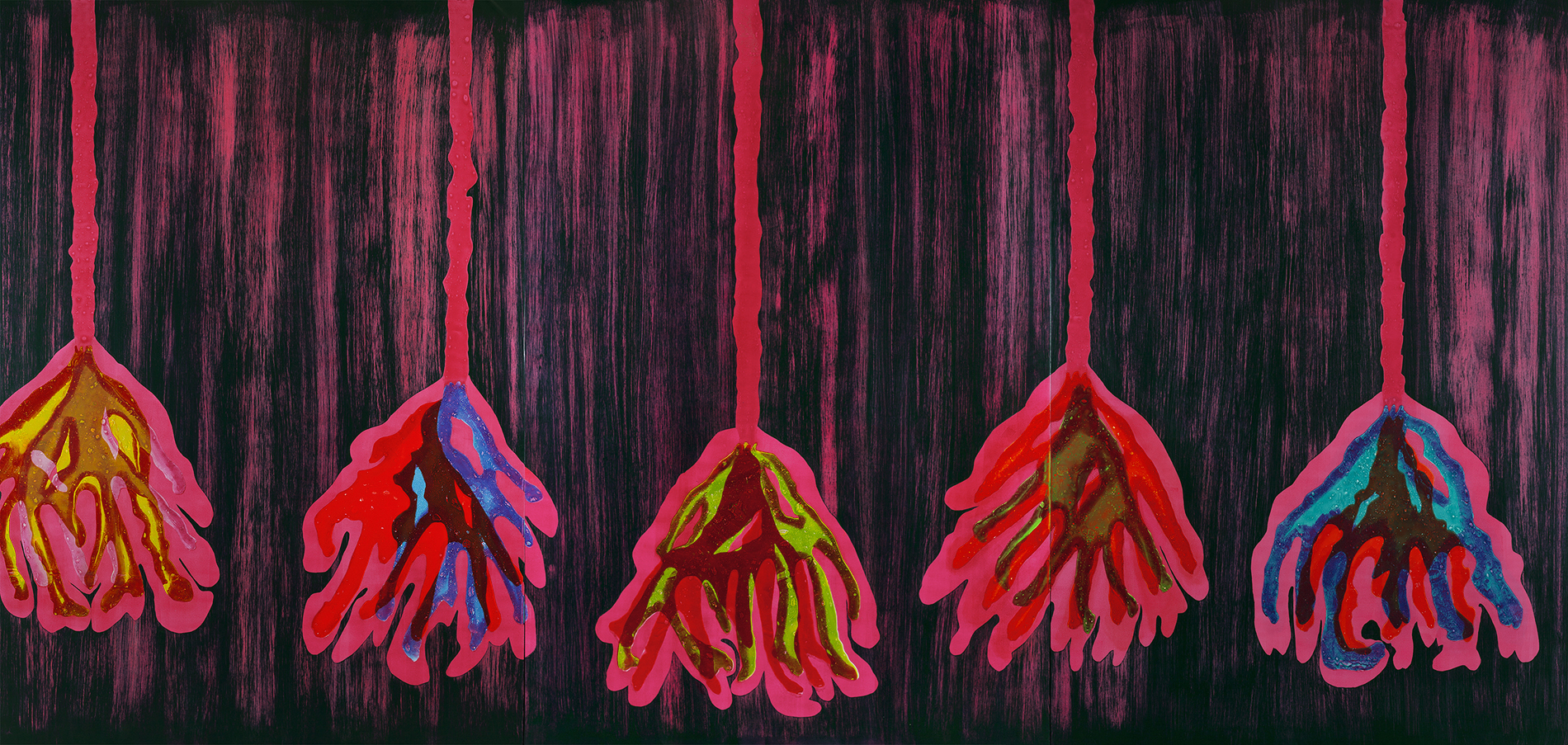 KISSED BY NIGHTSHADE 2012 Oil on canvas 112 x 231 inches