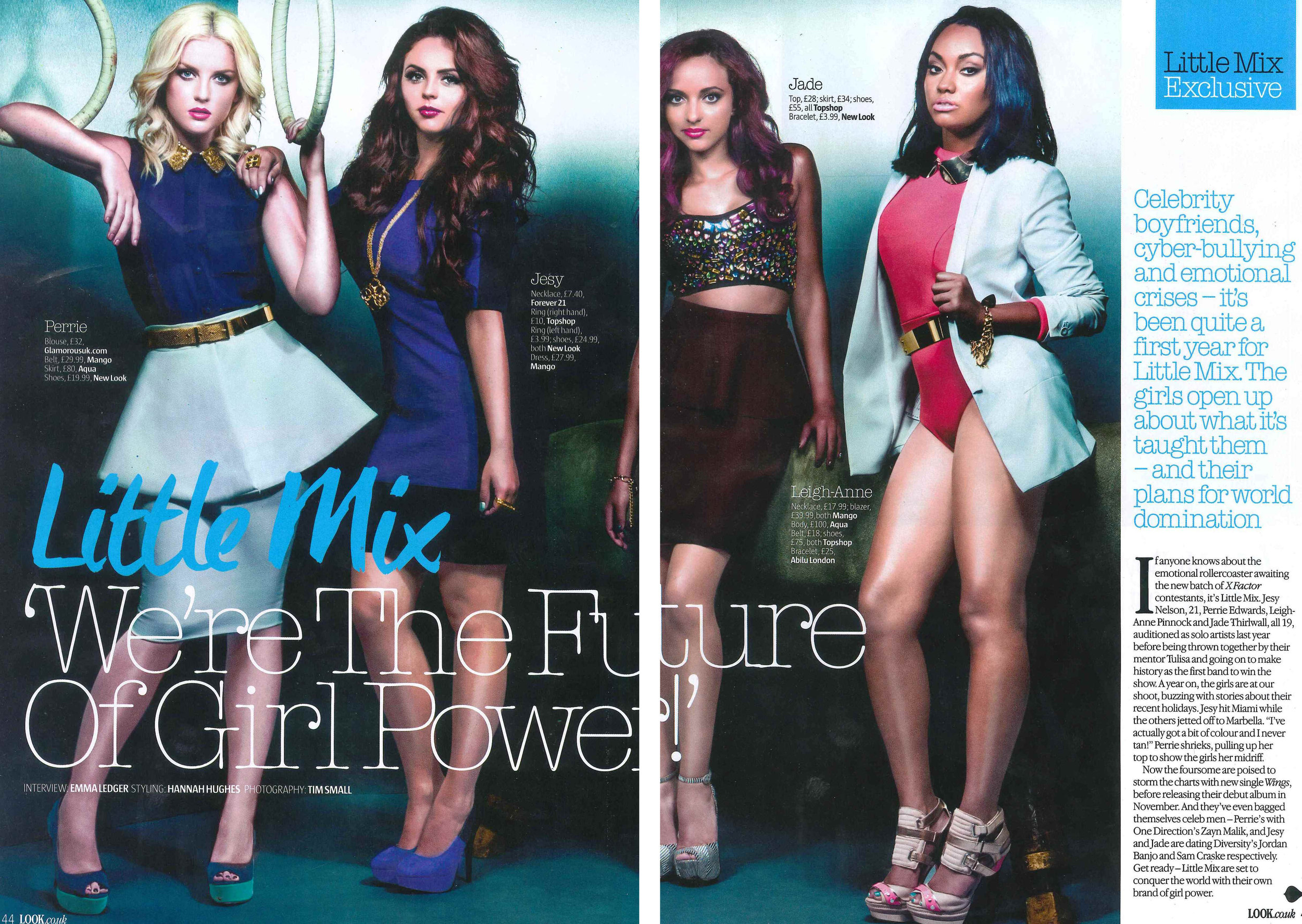 Look Magazine -Little Mix - UK