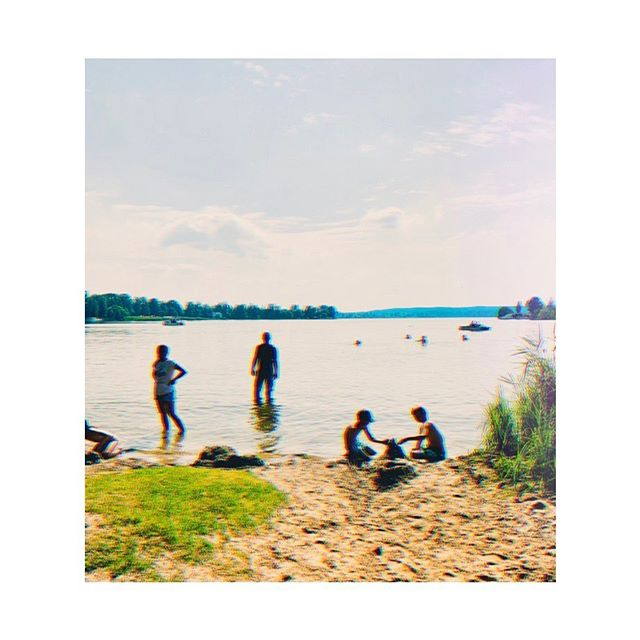 other people's memories . . . . . #brandenberg #germany #lake #water #beach #light #nostalgia #art #dreamermagazine #friends #see #shwerin #shwerinsee #europe #travel #travelpic #placesandprose #iphoneography #summer #chillvibes #glitch #groovo #retro