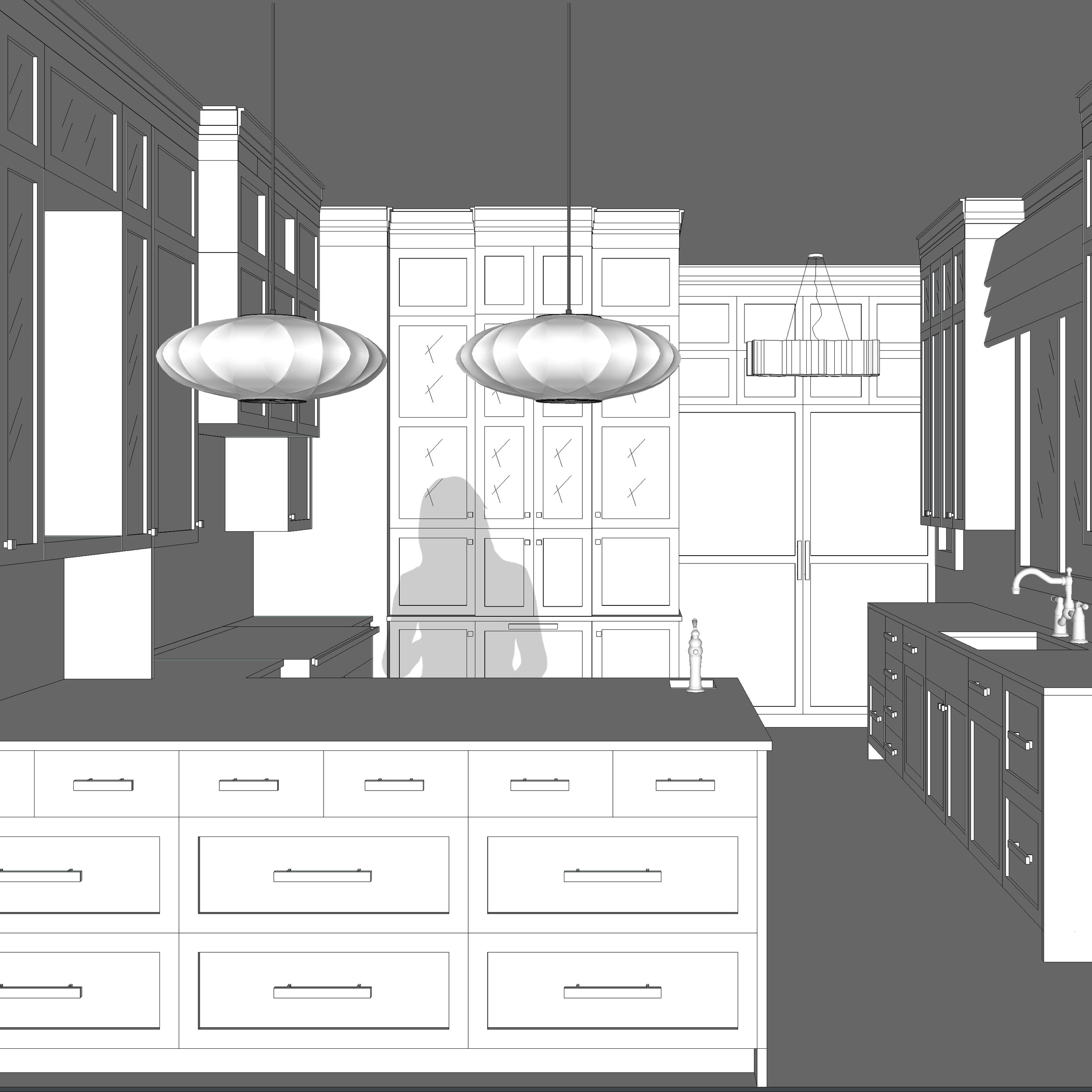 A DREAM KITCHEN   about the image: The glamour of a finished space is for the client. The work to create the dream is for the designer.